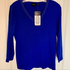 Women's Rafaella Embellished knit Top